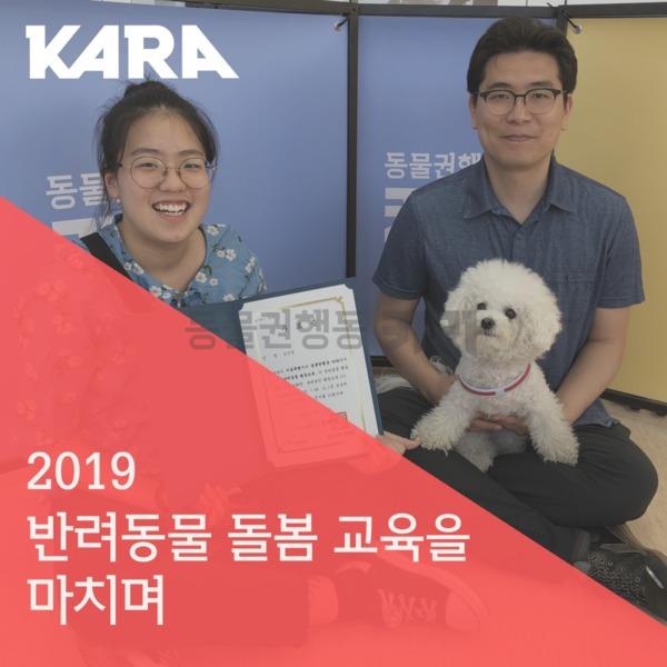 [카드뉴스] 2019반려동물돌봄교육 마무리 [사진그림류]