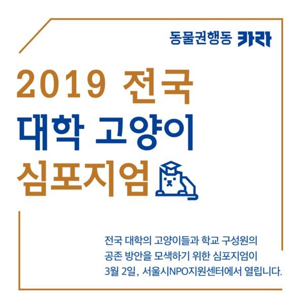 [SNS웹자보]전국 대학 고양이 심포지엄 [사진그림류]