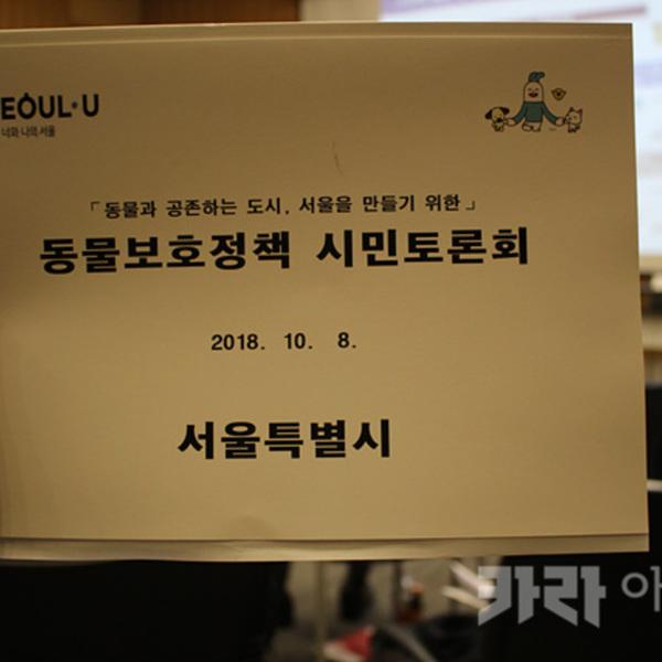 서울시 동물보호정책 시민 토론회 [사진그림류]