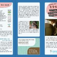 """2011 동물실험반대 캠페인 리플렛 : 기억해주세요! """"동물실험은 3U"""" [문서류]"""