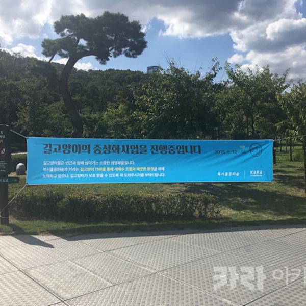 북서울 꿈의숲 TNR 안내 현수막 [사진그림류]