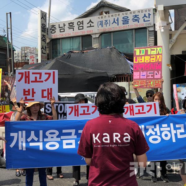 모란시장 서울축산 앞 집회 [사진그림류]