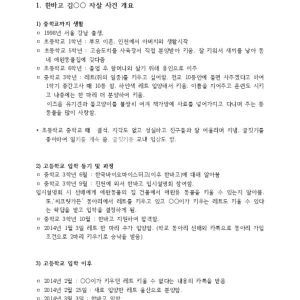"""한국바이오마이스터고등학교의 창업동아리 """"씨크릿 가든""""의 문제점의 붙임파일 [문서류]"""