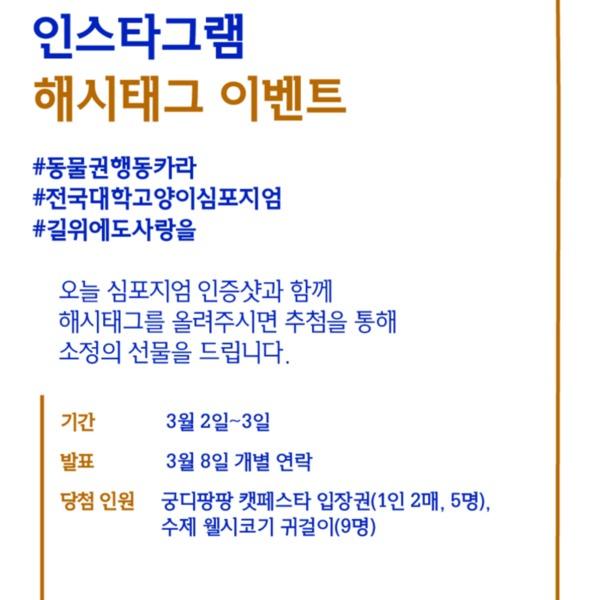 전국 대학 고양이 심포지엄 인스타그램 이벤트 포스터 [사진그림류]