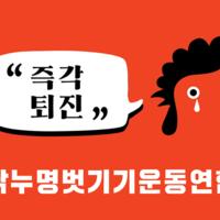 광화문 촛불집회 카라 깃발 이미지 : 닭누명벗기기운동연합 [사진그림류]