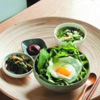 복날대체영양식 엽서 앞면 : 생강나무잎채소밥 [사진그림류]
