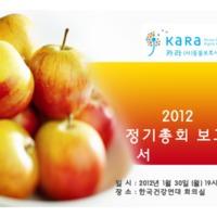 2012년 카라 총회 활동보고서 [문서류]