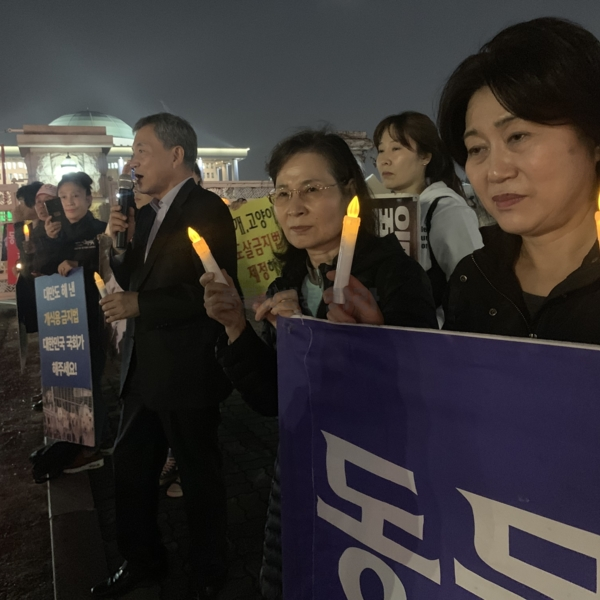 트로이카 법안 통과 촉구 국회 앞 촛불 집회 [사진그림류]