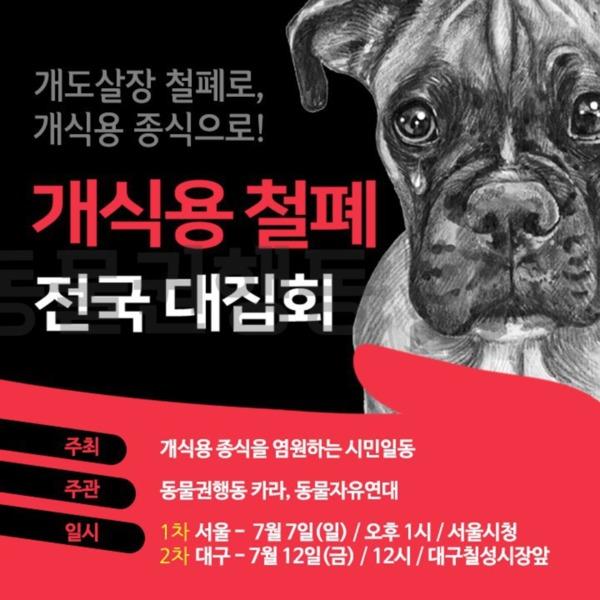 [웹홍보물]초복 개식용 철폐 전국 대집회 [사진그림류]