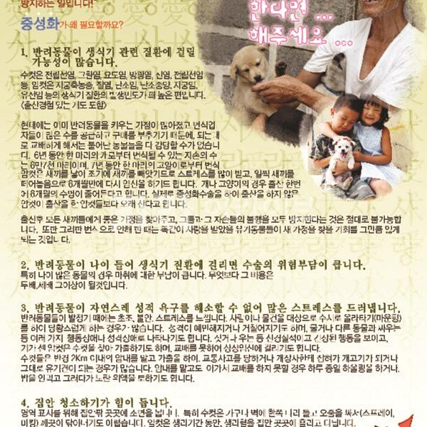 2006 중성화 수술 홍보 전단지 [사진그림류]